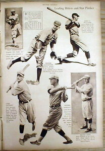 1920 NY Times newspaper picture magazine w Photos Major League Baseball players
