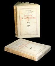 PROUST (Marcel) - Sodome et Gomorrhe. [A la recherche du temps perdu].