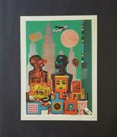 "Eduardo Paolozzi ""Wittgenstein in New York""  Mounted offset Lithograph  1973"