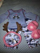 American Girl Doll Reindeer Pajama outfit Antlers Cozy