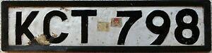 GENUINE Rare Kenya Number Licence  License Plate in Frame KCT 798