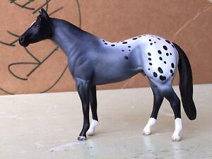Peter Stone Chip Quarter Horse Mold Custom Appaloosa Blue Roan Repaint Cm OOAK