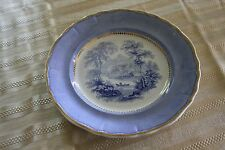 Davenport Blue and White Dinner Plate with Gold Gilding