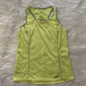 Womens M Medium Patagonia Bright Yellow Sleeveless Activewear Athletic Top