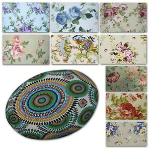 Flat Round Shape Cover*Rose Cotton Canvas Floor Seat Chair Cushion Case*AF1
