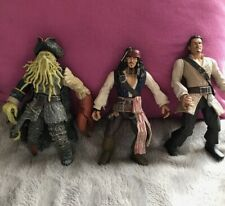 Pirates Of The Caribbean TV Film Action Figures X3 Jack Sparrow Preowned