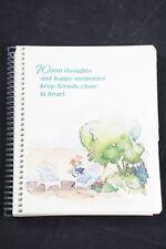 Hallmark Spiral Bound Tabbed Address Book Vintage Unused 1990's Watercolor Usa