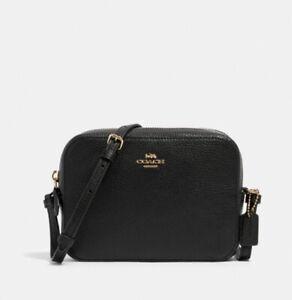 BNT COACH Mini Camera Bag In Black Leather 87734