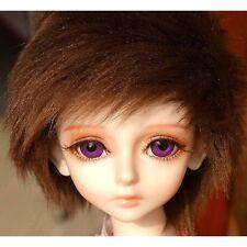 "6-7"" 16cm BJD doll fabric fur wig brown short for 1/6 SD Doll Dollfie antiskid"