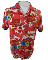 Koko Knot Men Hawaiian camp shirt S pit to pit 20 floral tropical vintage rayon