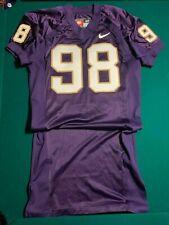 Washington Huskies Game Worn PURPLE Football Jersey Nike #98 Size48
