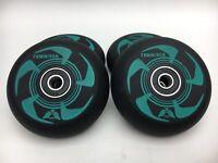AOWISH Inline Skate Wheels w/ Bearings ABEC-9 (4-Pack) Black & Green NEW C26 C