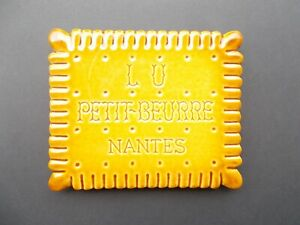 Large POP ART1970's French Pottery LU PETIT-BEURRE Biscuits Advertising Trivet