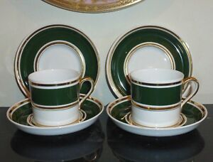 Antique Spode Copeland For Tiffany and Co New York set of 2 Cups and 4 Saucers