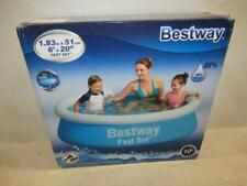 """Bestway Fast Set 6' x 20"""" Round Inflattable Small Pool 57392"""