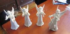"4 Vintage Porcelain 5 3/4"" Music Angel Figurines - Musicians Set"