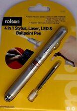 Rolson 4 in 1 Laser Pointer Pen - Stylus - LED - Ball point pen