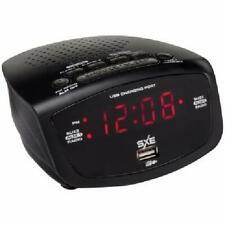Sxe Black Digital Fm Clock Radio with Dual Alarm and Usb Charging Port Us Seller
