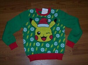 Size (4) Boys  Ugly Christmas Sweater Jumping Beans Pokemon Pikachu