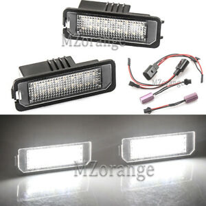 2X LED License Plate Light Lamp For BENTLEY Continental GT GTC Flying Spur 06-13
