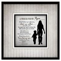 NEW Dexsa Prayer For My Mom Simple Expressions Wood Plaque with Easel DX8672