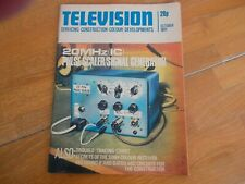 TELEVISION MAGAZINE OCT 1971 PULSE SCALER SIGNAL GENERATOR  SONY TROUBLE TRACING