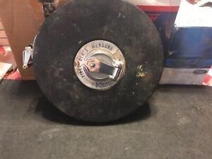 Vintage Keson Ind. Tools 100' Ft Woven Fiberglass Non-Metallic Tape Measurer
