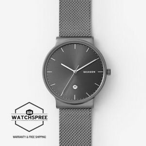 Skagen Men's Ancehr Titanium and Steel Mesh Watch SKW6432