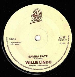 """WILLIE LINDO-samba patti    klik 7""""   (hear)  reggae"""