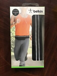 "New Belkin Fitness Belt with Zip Closure Pocket For Smartphones upto 5.5"" , Keys"