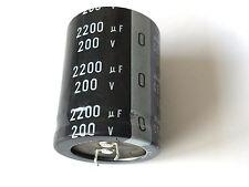 2200uf, 2200µf, 200v, 85 °, 20%, LLS 2 D 222 Melc, Nichicon, radiale, rm10, H = 45mm, D = 35mm