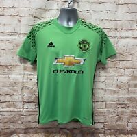ADIDAS MANCHESTER UNITED GOALKEEPER FOOTBALL SHIRT - SIZE Small - De GEA