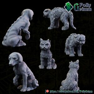 Cats and Dog Miniatures for DnD|Pathfinder RPG|Warhammer Fantasy