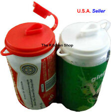 Soda Pop Beer Can Cover Top Beverage Lids Set of (2) New Kitchen (Free Shipping)