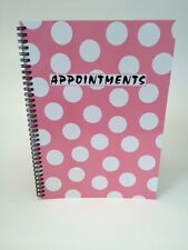 A4 Sized Pink Polka Dot 4 Column Appointment Book - Hairdressers, Beauticians...