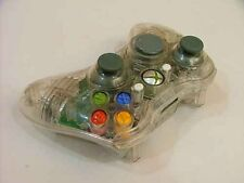White Custom Crystal Clear Wireless Controller Shell Case For XBox 360 Pad