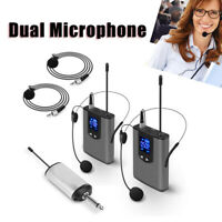 Wireless Audio System Dual Head Mounted Mics Lavalier Mics Transmitter Fit Guide