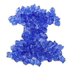 100X Klar Blau Acryl Steine Aquarium Acrylic Stones Eiswürfel Party Tischdeko ly