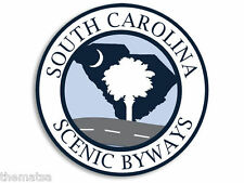 "SOUTH CAROLINA SENIC BYWAYS  4"" TOOLBOX HELMET CAR  DECAL STICKER USA MADE"