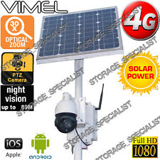 4G Security Camera 30X Optical Zoom Solar Farm House PTZ GSM Real Live View 3G