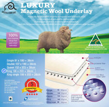 Fully Fitted Magnetic Wool Underlay/Underblanket--KING