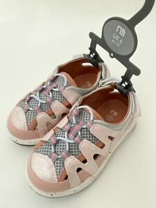 MOTHERCARE Girls Summer Sandals Toddler Pink Closed Toe Beach Walking Shoes Bnwt