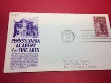 #1064 FDC 1955 Anderson 3c L26 Pennsylvania Academy of the Fine Arts - Purple