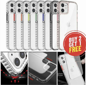 For iPhone 12 Pro Max 12 Mini Clear C/ase Shockproof Slim Bumper Best Protection