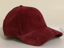 Lacoste 2015 Roddick Full Leather Solid  Cap Hat $55 NWT Vine Red M