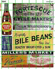 1041 DAVE'S DECALS HO CYCLE REPAIR COLA OLD BUILDING SIGNS GHOST ADVERTISING
