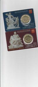 VATICANO - BENEDETTO XVI  COIN CARD MONETA 0,50 € n° 3- 4 PERFETTE