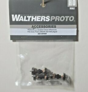 Replacement Geared Driver Ably Early PROTO 2000 E6/7/8/9 Pack 3 Walthers 584494