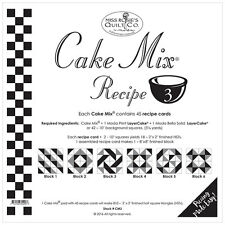 MISS ROSIE'S QUILT CO~CAKE MIX RECIPE 3~45 SHEETS 4 LAYER CAKE HALF SQ TRIANGLES