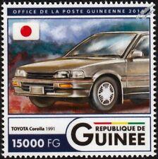 1991 TOYOTA COROLLA Sedan Car / Japan Flag Stamp (2016 Guinea)